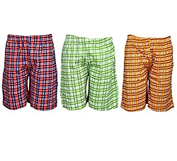 Spictex Boys' Cotton Shorts (Pack Of 3) (SPIC-CT142-PC3-02_Multicolor_8 Years - 9 Years)