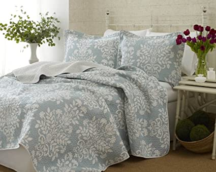 Laura Ashley Bedford Blue Quilt Laura Ashley Rowland Blue