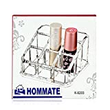 Bulfyss Make Up Clear Premium Acrylic Lipstick Nailpaint Organiser with 9 Sections
