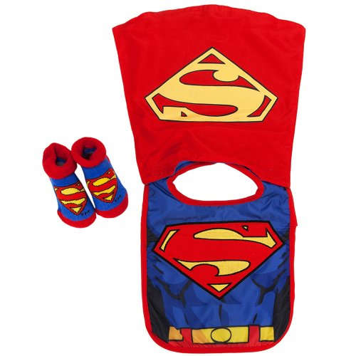 DC Baby Boys Infant Caped Bib And Bootie Set - 1