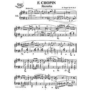 Chopin Mazurka Op. 41, No. 3: Instantly download and print sheet music Chopin