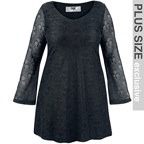 Black Premium by EMP Lace Sleeve Dress Abito nero L
