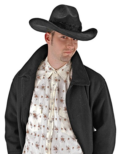 [The Gambler Hat Costume Accessory] (Black And White Silent Film Star Costume)