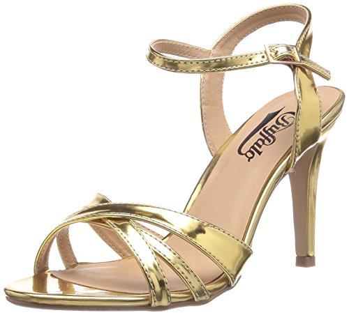 Buffalo 312703 METALLIC PU, Sandali donna, Oro (Gold (GOLD 01)), 38