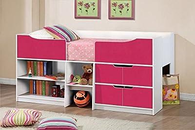 Happy Beds Paddington Cabin Bed Storage Drawers Kids Children