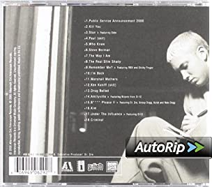 Amazon.com: Eminem: The Marshall Mathers LP: Music