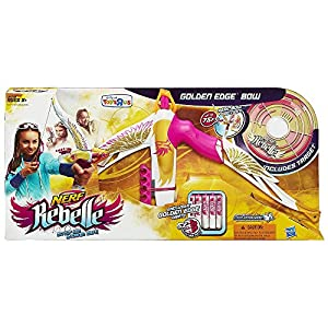 Nerf Rebelle Heartbreaker Exclusive Golden Edge Bow with Bonus Target