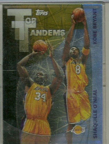2002 Topps Basketball Top Tandems Shaquille O'Neal Kobe Bryant Card # Tt2 front-686131
