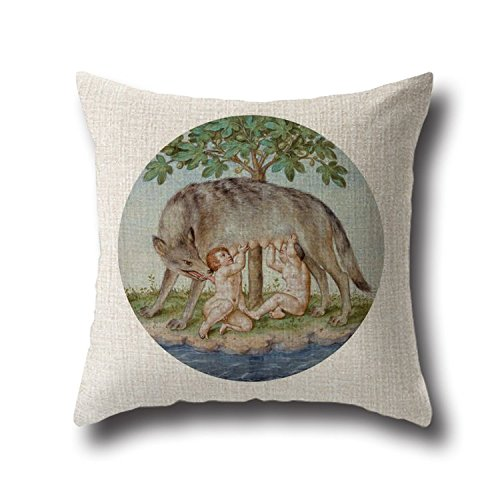 Beautfuldecor Home Decoration Wolf-cub Painting Pillowcase 20X30 Inch Standard Size Throw Cushion Cover