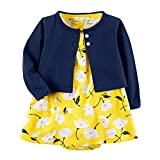 Carter's Baby Girls Dress Set, Navy/Yellow, 6M