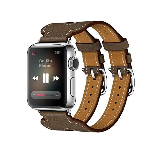 EloBeth 新しいApple Watch バンド 本革 レザー アップル...