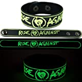 Rise Against New Bracelet Wristband Gg129 Glow In The Dark Endgame