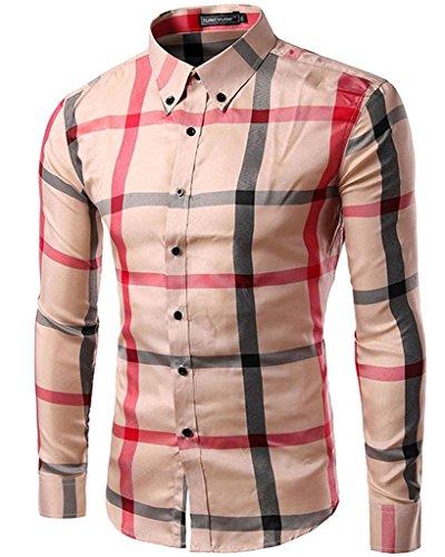goewa-mens-cotton-plaid-checked-pattern-long-sleeve-shirts