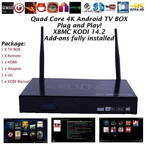 Kukele CS199 XBMC KODI 14 2 Addons Fully Loaded Android 4 4