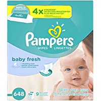 Pampers Baby Wipes Baby Fresh 9X Refill 648 Diaper Wipes