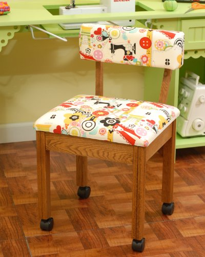 Arrow Sewing Cabinets 2000 Sewing Chair for any Craft Room, Oak