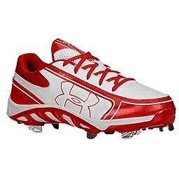 Under Armour Women\'s UA Spine Glyde ST CC White/Red Sneaker 6 B - Medium