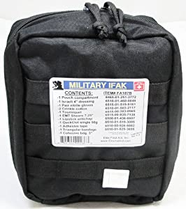 Fully Stocked Military IFAK Individual First Aid Kit by Elite First Aid