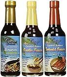 Coconut Secret Coconut Aminos Teriyaki Sauce, Garlic Sauce, and Aminos 3 Pack (Bundle)