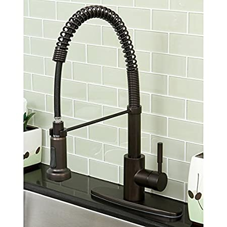 Concord Modern Oil Rubbed Bronze Spiral Pull-down Kitchen Faucet by Kingston Brass