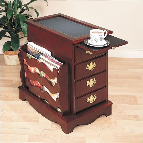 Image of Powell Furniture Heirloom Magazine Cabinet End Table with Side Storage (B003K5YZS0)