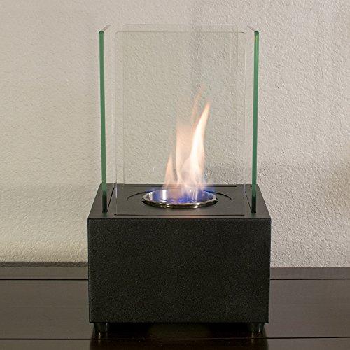 Ventless Ethanol Liquor Tabletop Fireplace w/0.5L Stainless Steel Fuel Insert. Modern Indoor & Outdoor Fire Decor Hallmark.