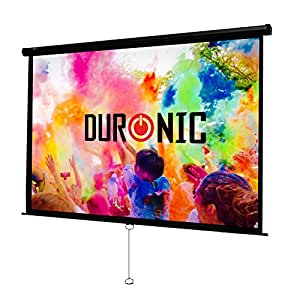 "Duronic MPS80/43 Manual Pull Down HD Home Theatre/Cinema/Office Projector Screen - 80"" (Screen: 163cm(w) X 122cm(h))- Matte White Screen - Wall, Ceiling mountable"