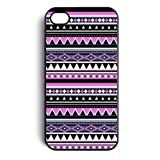 Aztec Tribal Pattern Floral Snap On Case Cover for Apple iPhone 4 iPhone 4s