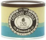 Taza Chocolate Chocolate Covered Almonds, 8 Ounce