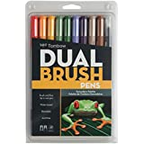 Tombow Dual Brush Pen Art Markers, Secondary, 10-Pack