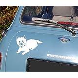 Westie West Highland Terrier Car Vinyl Sticker - By SCA ART
