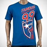 Famous Side Car Tee Royal Blue/Red/White Small