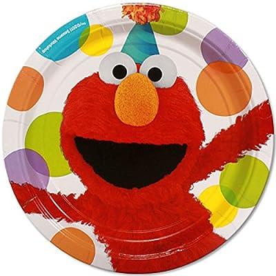 Sesame Street Elmo Party Dinner Plates (8)