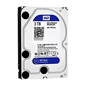 【Amazon.co.jp限定】WD HDD 内蔵ハードディスク 3.5インチ 3TB WD Blue WD30EZRZ/AFP SATA3.0 5400rpm 64MB 2年6ヶ月保証