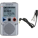 Olympus DP-211 Digital 2GB Voice Recorder Dictation Machine with Large LCD + EXTRA FREE Olympus ME-15 Tie-Clip Microphone