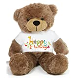 Brown 2 feet Big Teddy Bear wearing a First Happy Birthday T-shirt