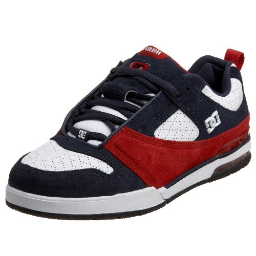 DC Men's PJ S Sneaker,White/DC Navy/T.Red,6 M