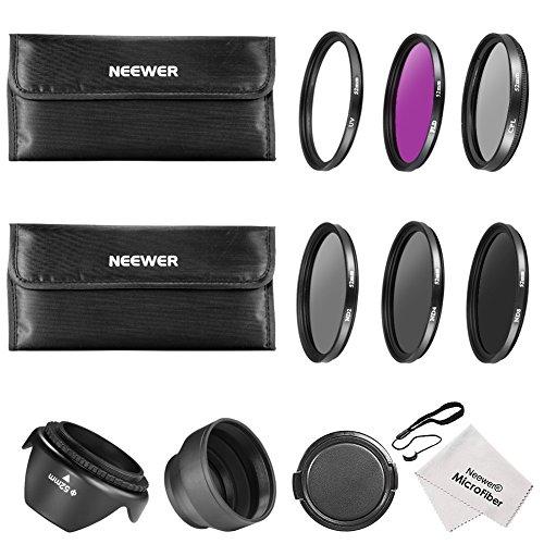 Neewer 52MM Must Have Lens Filter Accessory Kit for NIKON D7100 D7000 D5200 D5100 D5000 D3300 D3200 D3100 D3000 D90 D80 DSLR Cameras- Includes: 52MM Filter Kit (UV, CPL, FLD) + ND Neutral Density Filt