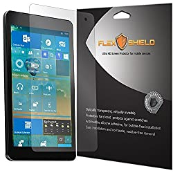 Dell Venue 8 Pro 5855 Screen Protector [5-Pack][5855], Flex Shield - Ultra Clear Japanese PET Film with Lifetime Warranty - Bubble-Free HD Clarity with Anti-Fingerprint & Scratch Resistance