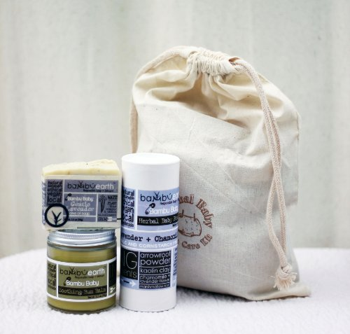 Organic Baby Care Set w/ Muslin Gift Bag