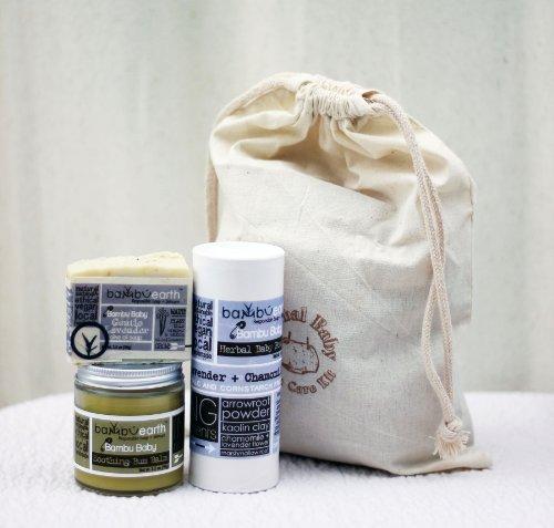 Organic Baby Care Set w/ Muslin Gift Bag