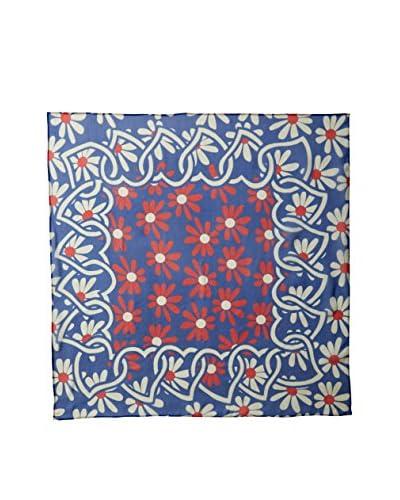Dolce & Gabbana Women's Floral Silk Scarf, Red/White/Blue