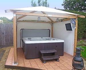 """White Pavilion Gazebos: 3m x 3m (9'9"""" x 9'9""""): Hot Tub Gazebo"""