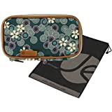 """Double-Sided Cosmetic Toiletry and Jewelry Bag Travel Organizer (8"""" L x 4.5"""" H x 3.2"""" W) with Bonus Reusable Bag"""