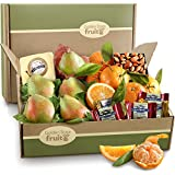 Golden State Fruit Harvest Favorites, Fruit and Gourmet Gift Box, 6 Pound