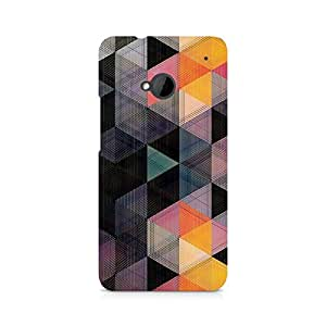 Ebby Random Hex Premium Printed Case For HTC One M7