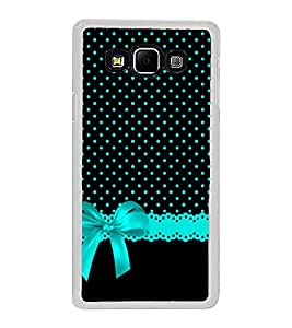 Black Pattern with Blue Bow 2D Hard Polycarbonate Designer Back Case Cover for Samsung Galaxy A8 (2015 Old Model) :: Samsung Galaxy A8 Duos :: Samsung Galaxy A8 A800F A800Y