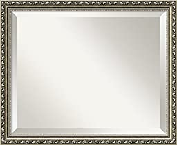 Wall Mirror Medium, Parisian Silver Wood: Outer Size 22 x 18\