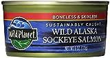 Wild Planet Sockeye Salmon, Skinless & Boneless, 6 Ounce Can (Pack of 12)