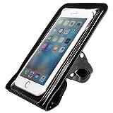 オウルテック 自転車用ホルダー防水ケース カメラ穴付き iPhone6s/6sPlus等各種スマートフォン用(最大サイズH161×W85mmまで対応) ハンドル径15-26mm対応 ブラック OWL-BASH03-BK